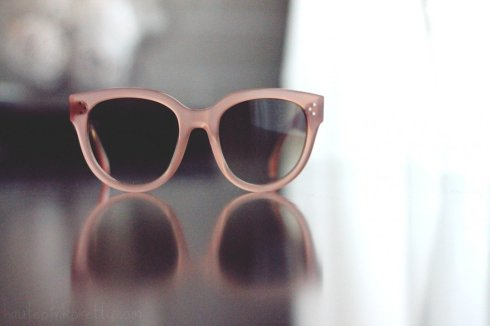 www.HautePinkPretty.com - Celine Paris CL 41755 Audrey Sunglasses in Blush