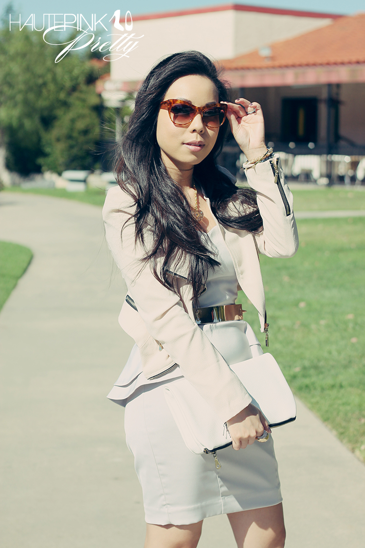 42b446330aa www.HautePinkPretty.com - An Dyer Wearing Lucy Paris Cream Asymmetric  Jacket