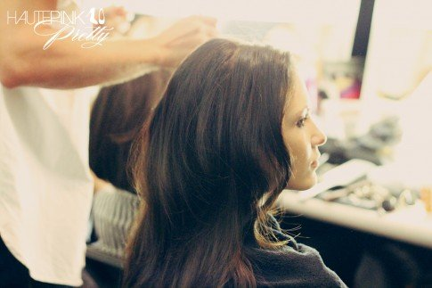 BCBGMaxazria Runway SS13 Backstage Behind the Scenes - Hair