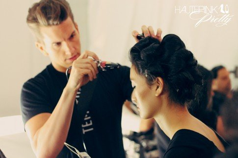 BCBGMaxazria Runway SS13 Backstage Behind the Scenes - Temptu Airbrush Makeup
