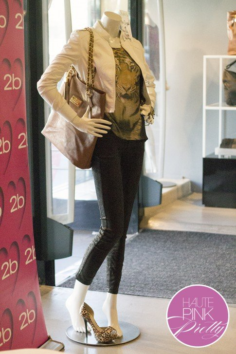 2b by bebe Blogger State of Style Soiree - HautePinkPretty Mannequin