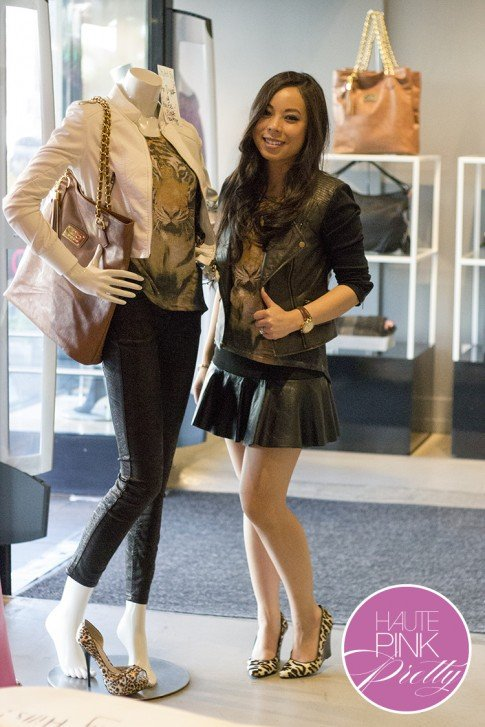 2b by bebe Blogger State of Style Soiree - HautePinkPretty styled Mannequin An Dyer