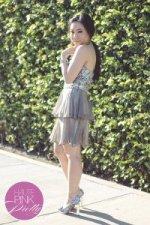 www.HautePinkPretty.com - An Dyer wearing Shail K. KK3147 MissesDressy Sole Society Stella in Pewter Glint & Gleam accessories via ShopLately Anjolie Necklace