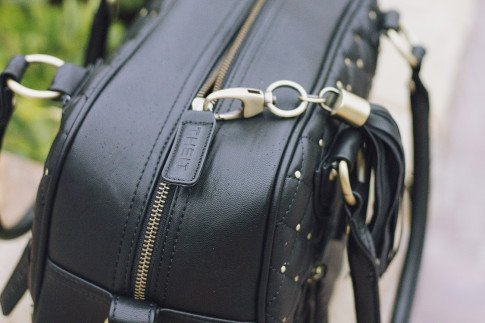 THEIT Black Studded Bossi Camera Bag
