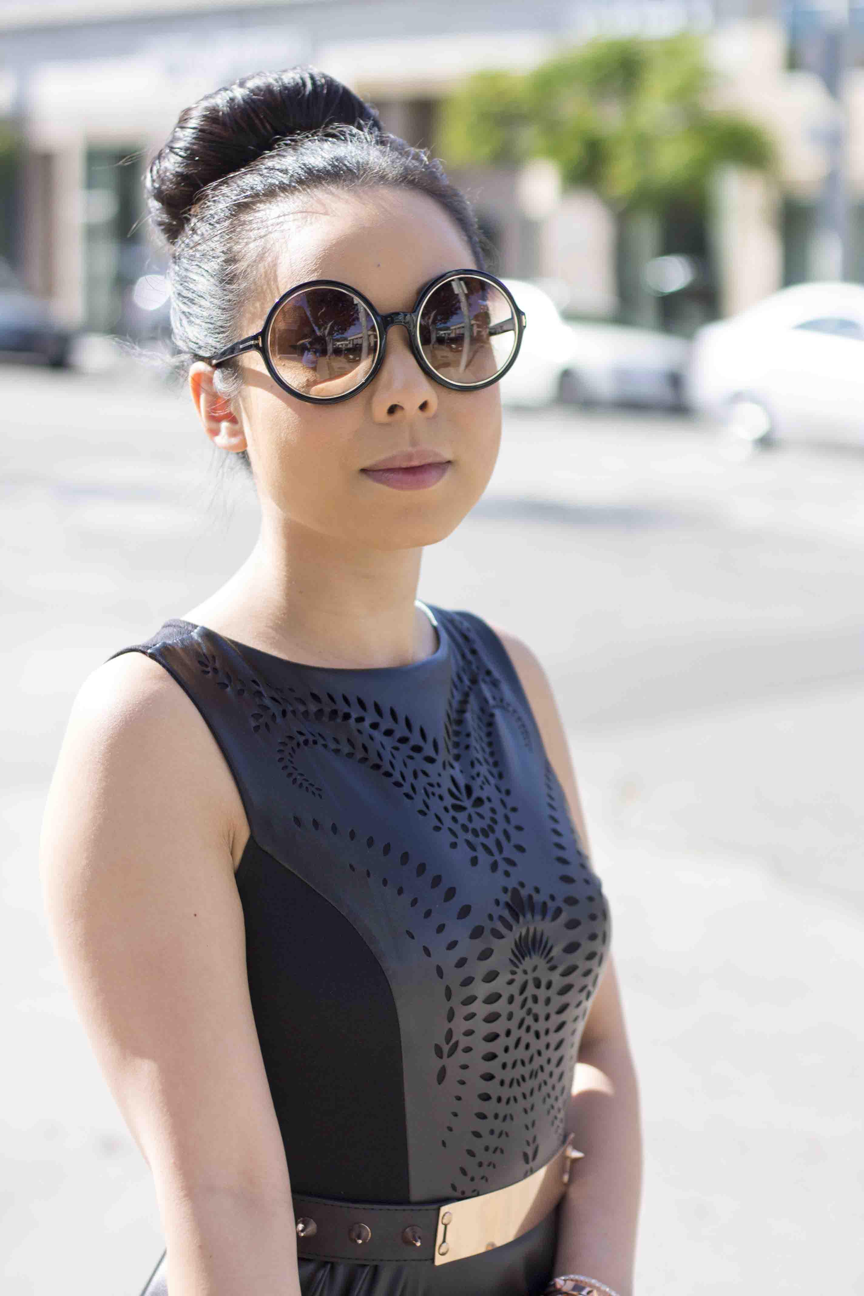 Hautepinkpretty Lavishville Laser Cut Dress Koret