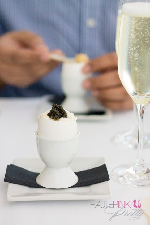 HautePinkPretty Brunch at Petrossian Paris WeHo West Hollywood Egg Royale and Champagne
