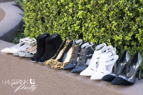 HautePinkPretty roadtoMAGIC What I'm Packing for Vegas - ShoeMint Grace Nude & Garbo Black White, SoleSociety Martini, Angela & Fergie Tribal Leopard, SOLSANA BLACK SILVER PUMPS (