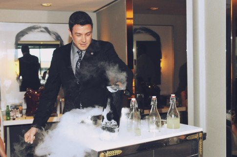 Joico's TURNHEADS Event at the SLS Hotel - Nick making Frozen Cocktails