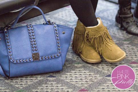 roadtoMAGIC Airport Attire An Dyer wearing Sassybax Leggings, Lamo Sammi Boots