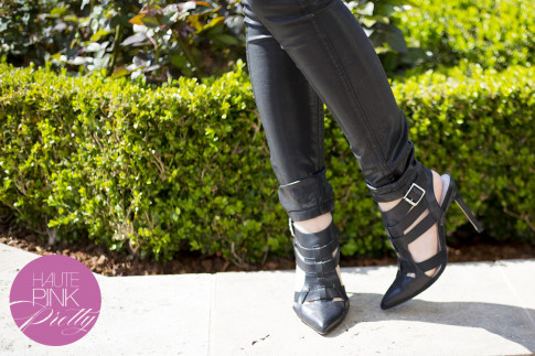 An Dyer wearing Bleulab Black Coated Jeans, ShoeMint Garbo Black
