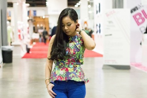 roadtoMAGIC Wearing Maurie & Even Tropical Peplum Top, YMI Jeans