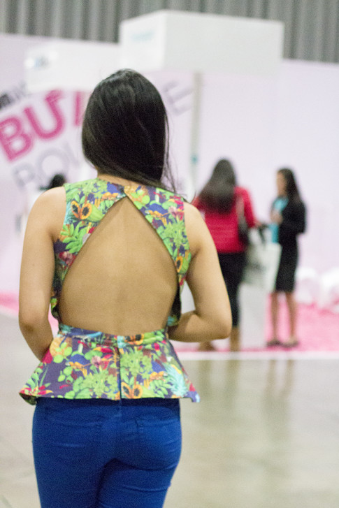 roadtoMAGIC Wearing Maurie & Even Tropical Peplum Top open back, YMI jeans