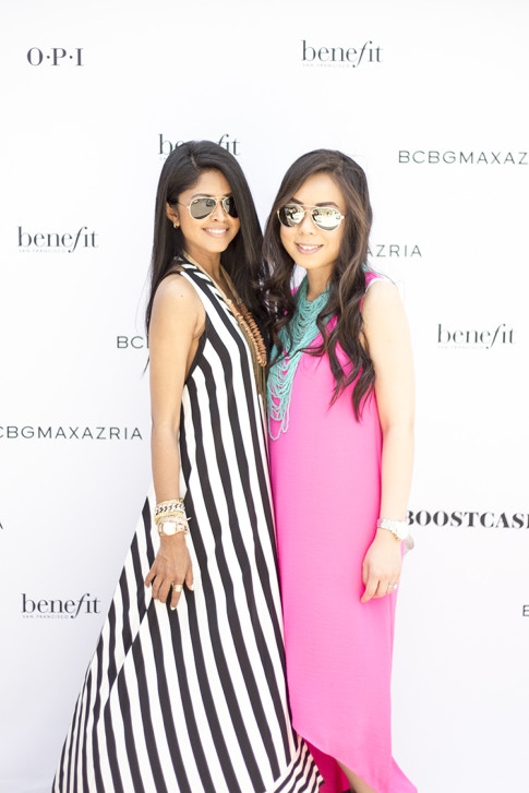 Blogger Besties Sheryl Luke & An Dyer at the BCBGMaxazria Benefit Beauty Bungalow Coachella 2013