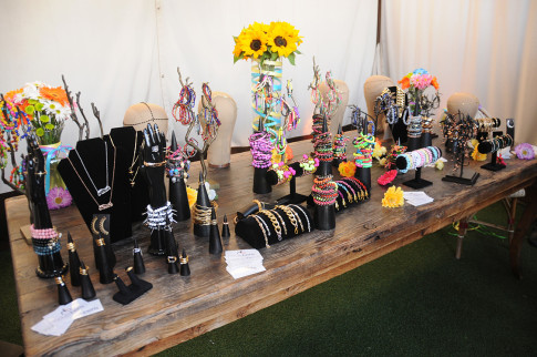 Collection Display at the Haute Betts Pre Coachella Party