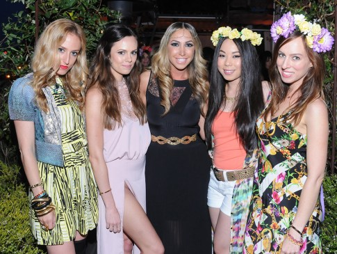 Elshane, Madison Guest, Diana Madison, An Dyer and Sydne Summer at the Haute Betts Pre Coachella Party
