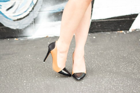 Sole Society Blakeley Black Nude Pumps Julianne Hough