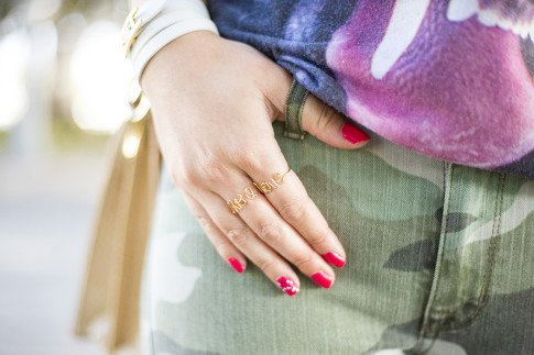 An Dyer wearing WeTheHatters More Love custom made rings