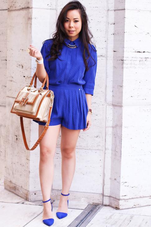 NYFW Spring 2014 Street Style by ryanbyryanchua An Dyer HautePinkPretty wearing Harlyn Label, JustFab Monroe Pumps & Brahmin Brookline Satchel