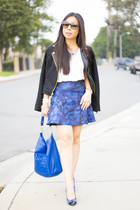 Dazzling Blue Casual Outfit