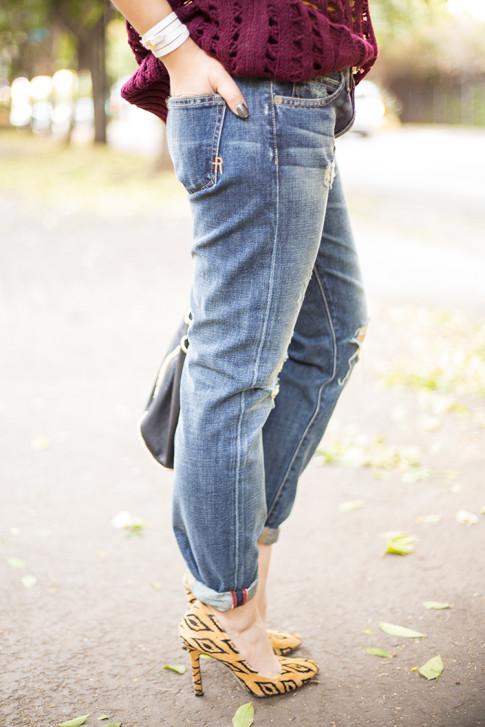 An Dyer wearing Rich & Skinny The Boy & Girl Jeans