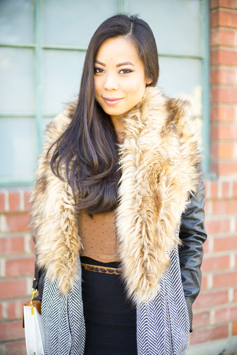 Faux Fur Fall Fashion Outfit Inspiration