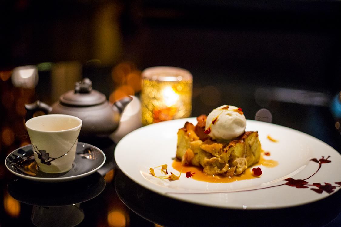 Lychee Bread Pudding