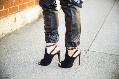 ShoeMint Cece Black Suede Mule