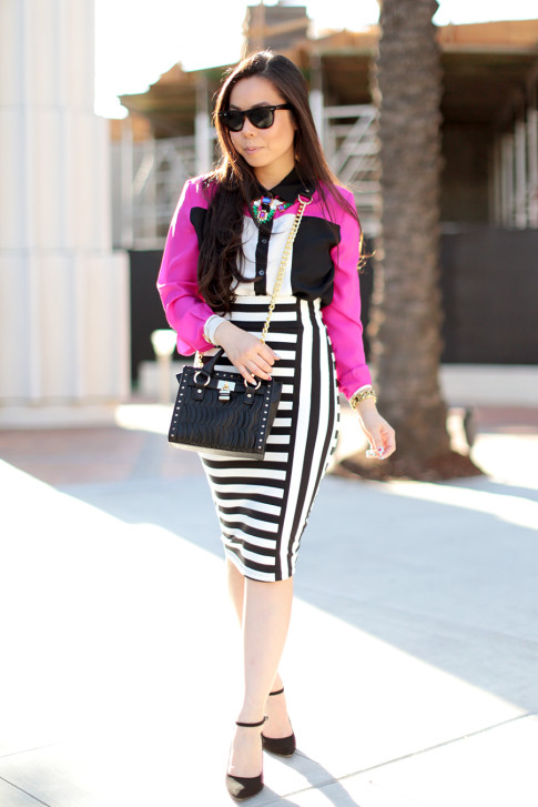 Pencil Skirt Street Style