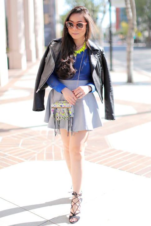 Colorful Spring Flirty Street Style