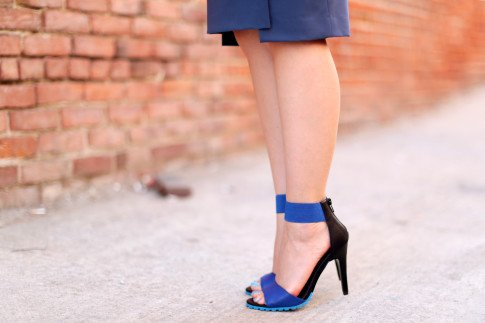 An Dyer wearing ShoeDazzle Kaleen