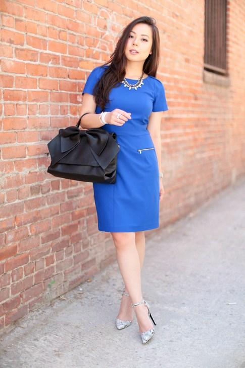 Cobalt Blue Corporate Office Dress