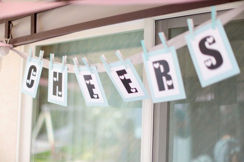 CHEERS DIY Banner Garland