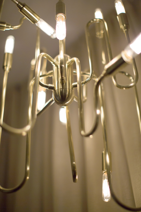 trombone brass chandelier