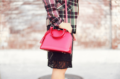 Windowpane Chic Holiday Outfit Inspiration