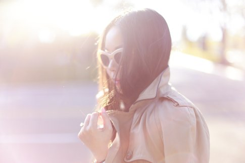 An Dyer wearing Triple Graces Sunglasses