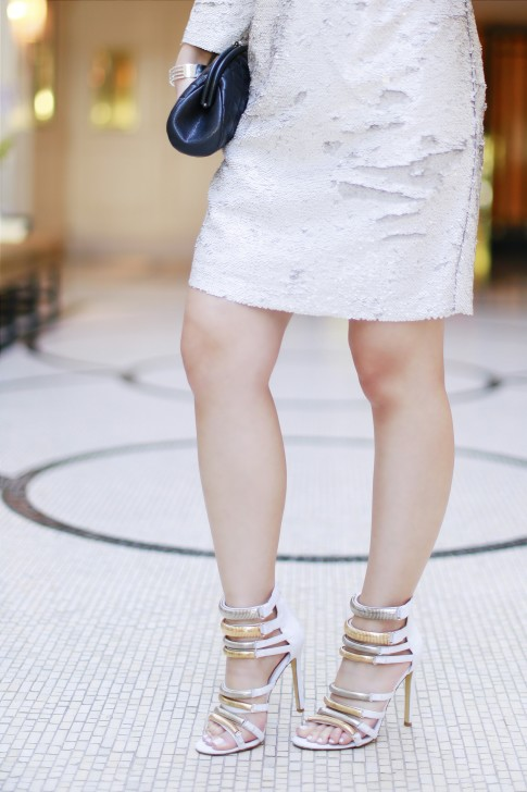 GRAMMYS Red Carpet Sequin Shift Dress