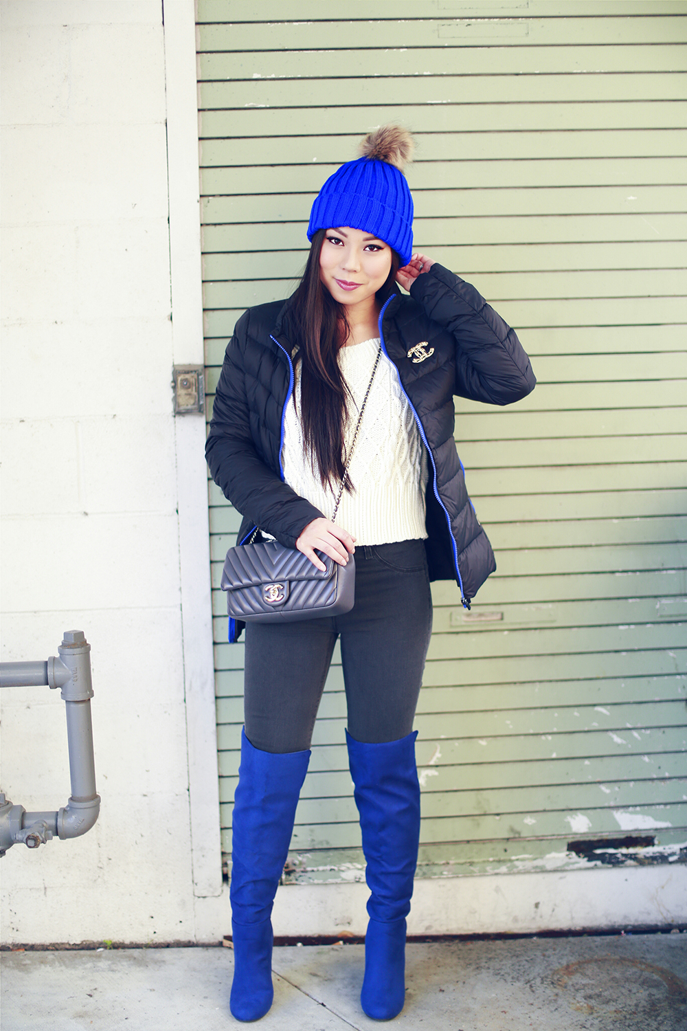 HautePinkPretty - Blue Over The Knee Boots