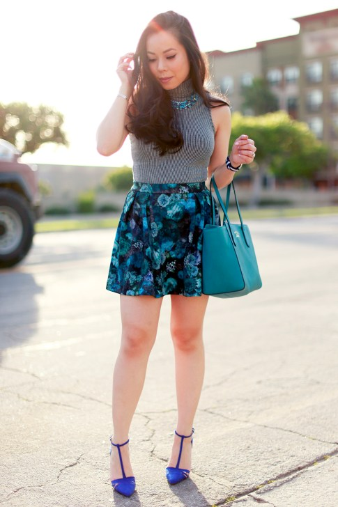 Turquoise Teal Street Style Gucci Swing Tote