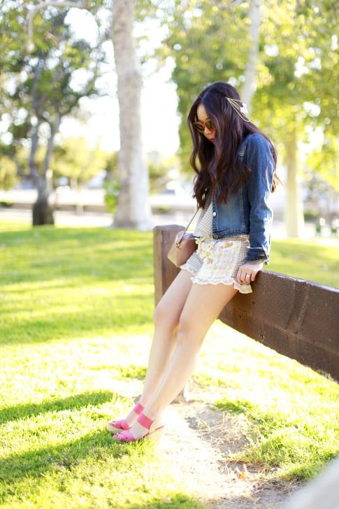 Coachella DSW Steve Madden Street Style Denim Jacket Shorts