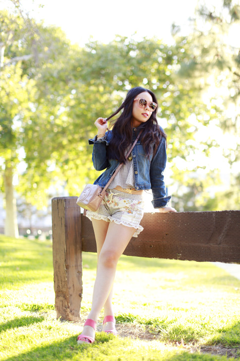 Coachella DSW Steve Madden Street Style with DRA Denim Jacket Shorts