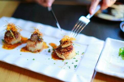 Sushi Roku Las Vegas Scallops with Foie Gras and White Truffle Oil