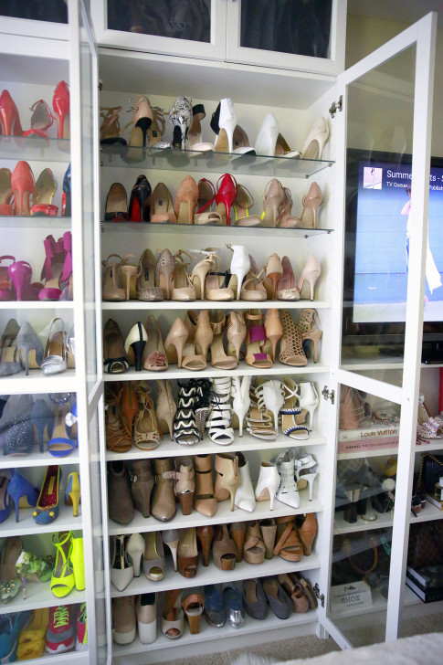 Organizing Nude Shoes Shoe Closet