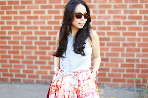 An Dyer wearing Vint and York Bees Knees Tortoise Shell Sunglasses
