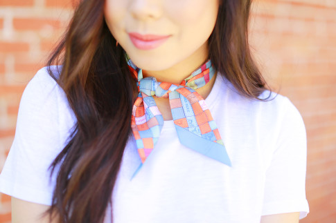 An Dyer wearing Hermes Twilly Neck Tie