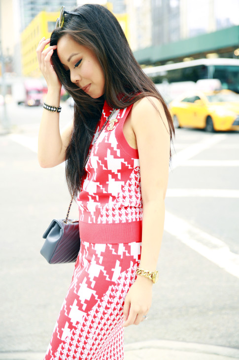 An Dyer NYFW Street Style Houndstooth