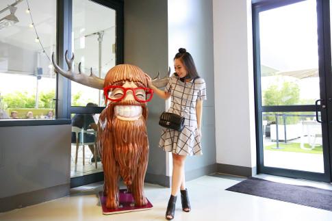 An Dyer Yotel Lobby Moose Statue