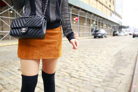An Dyer NYFW Street Style SS16 Like A Chevron Chanel Flap