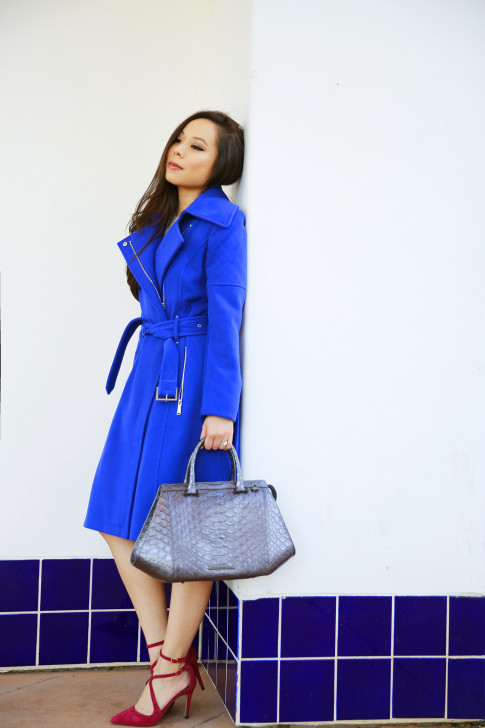 An Dyer for B C B Generation Blue Coat Brahmin Bag