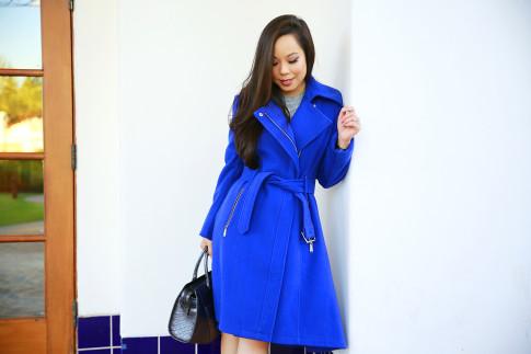 An Dyer for BCBGeneration Cobalt Blue Coat Fall Winter