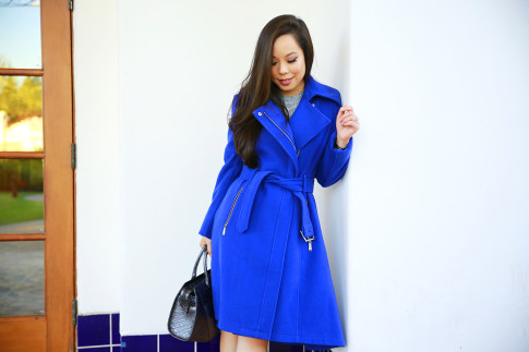 An Dyer for BCBGeneration Cobalt Blue Coat Fall Winter